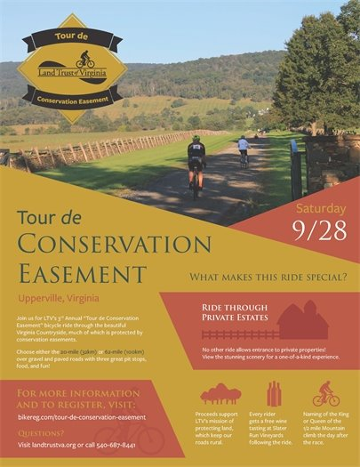 Land Trust of Virginia Tour de flyer