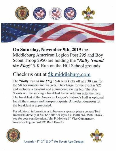 American Legion Post 295 5-K Run