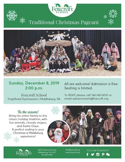 Foxcroft School, Christmas Pageant