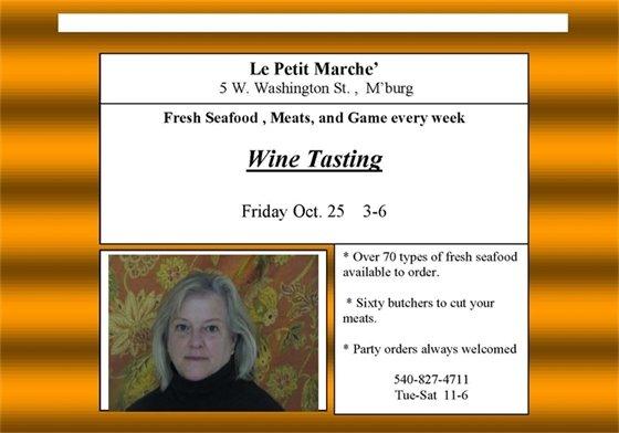 Le Petit Marche' Wine Tasting