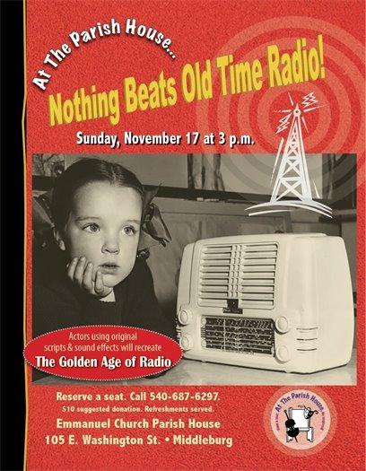 Emmanuel Episcopal Church, Old Time Radio