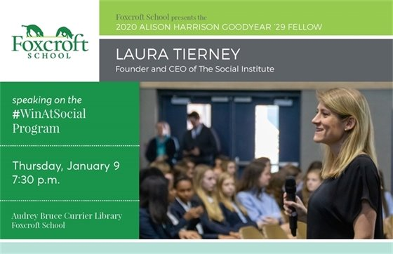 Foxcroft School, Laura Tierney flyer