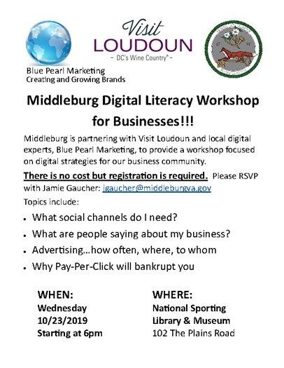 Digital Literacy Workshop, 10.23.19