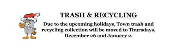 Trash collection date change