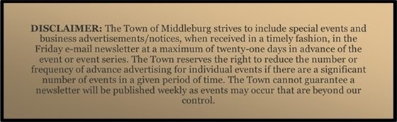 Middleburg Disclaimer