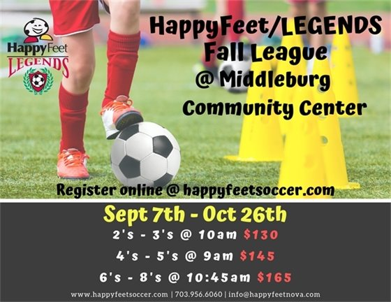 Happy Feet Soccer flyer