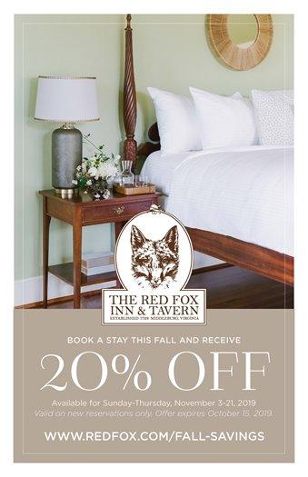 Red Fox Inn 20% off