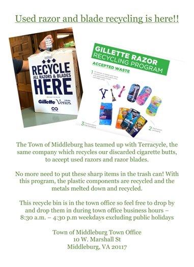 Razor Recycling flyer