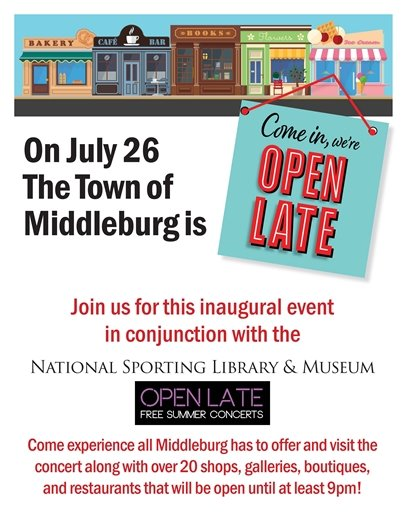 Middleburg Open Late flyer