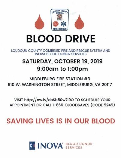 Middleburg Fire Dept Blood Drive