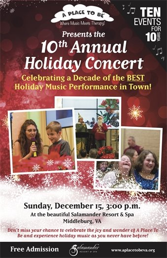 A Place to Be, 10th Annual Holiday Concert