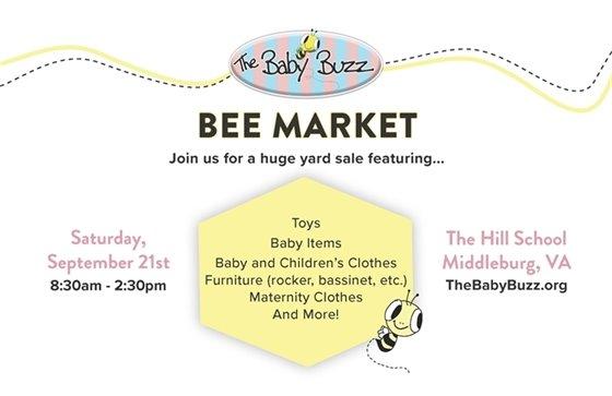 Baby Buzz Bee Market post card
