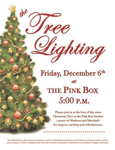 The Pink Box, Tree Lighting