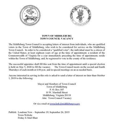 Town Council Vacancy