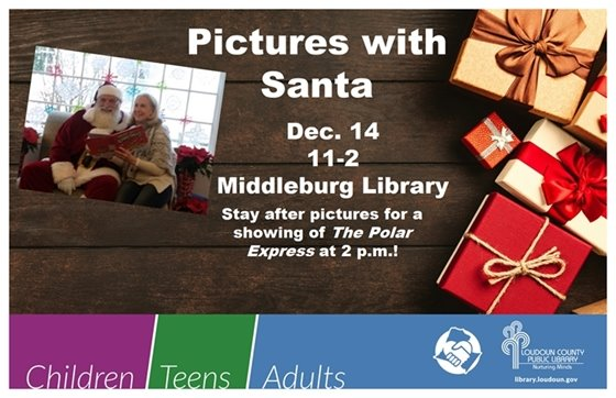 Middleburg Library Pictures with Santa