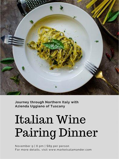 Market Salamander, Italian Wine Pairing Dinner