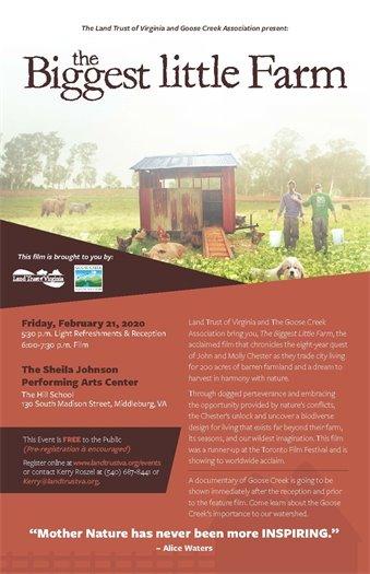 Land Trust of VA, Biggest Little Farm flyer